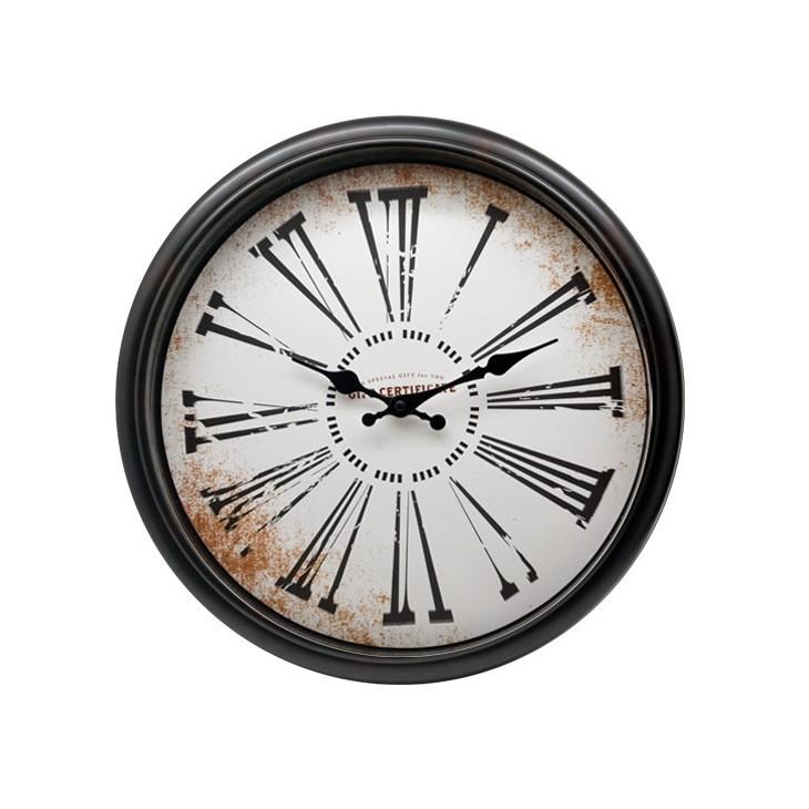 Zegar ścienny retro brązowy ROMA Arte Regal 43752.1