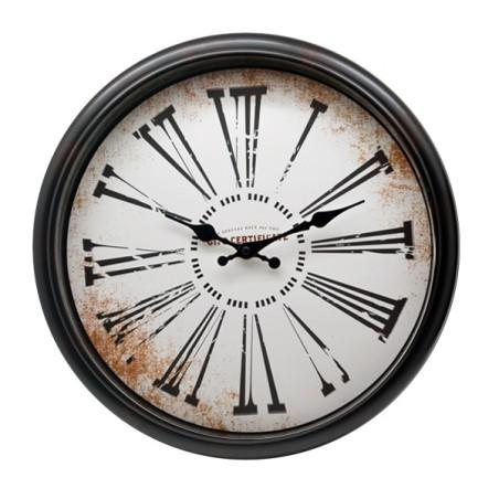 Zegar ścienny retro brązowy ROMA