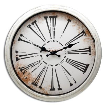 Zegar ścienny biały retro ROMA
