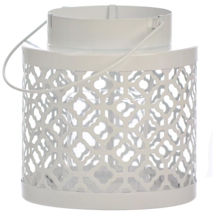 Lampion metalowy biały PORTAVELA Arte Regal 47283