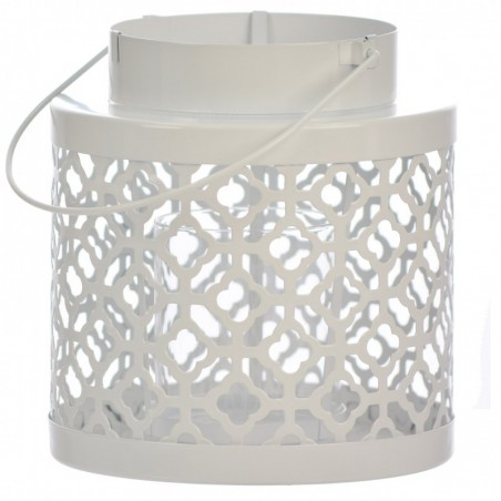 Lampion metalowy biały PORTAVELA