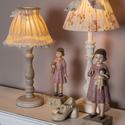 Lampa stołowa biała MALAGA, podstawa lampy