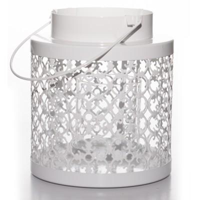 Lampion metalowy biały...