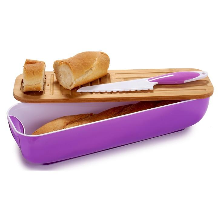 Chlebak, zestaw piknikowy fioletowy Arte Regal 48719.1