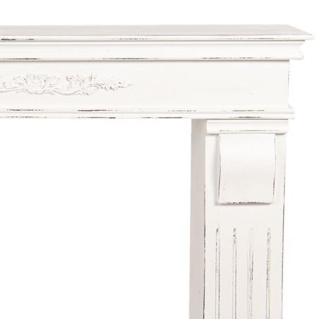 Portal kominkowy biały drewniany, obudowa kominka