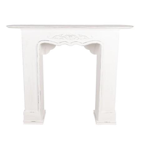 Portal kominkowy RUSTIC biały drewniany, obudowa kominka