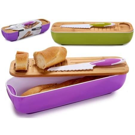 Chlebak, zestaw piknikowy fioletowy