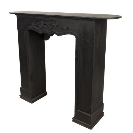 Portal kominkowy RUSTIC czarny drewniany, obudowa kominka
