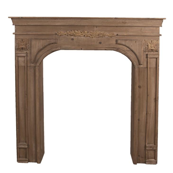 Portal kominkowy WOOD brązowy drewniany, obudowa kominka Clayre & Eef 5H0382B