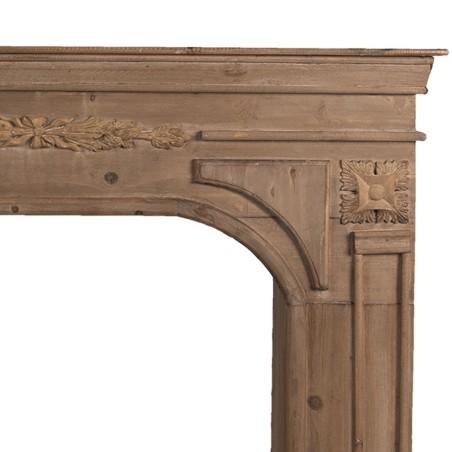 Portal kominkowy WOOD brązowy drewniany, obudowa kominka