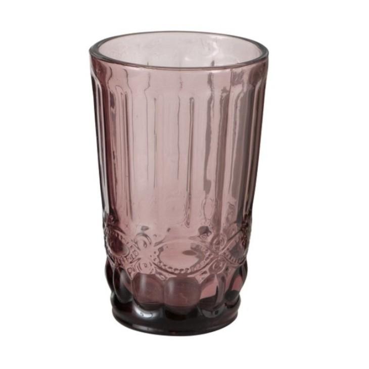 Szklanka z grubego szkła różowa AURORA 2 Boltze 1005612.2
