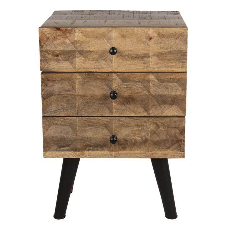 Szafka nocna, komoda drewniana z szufladami Clayre & Eef 5H0502