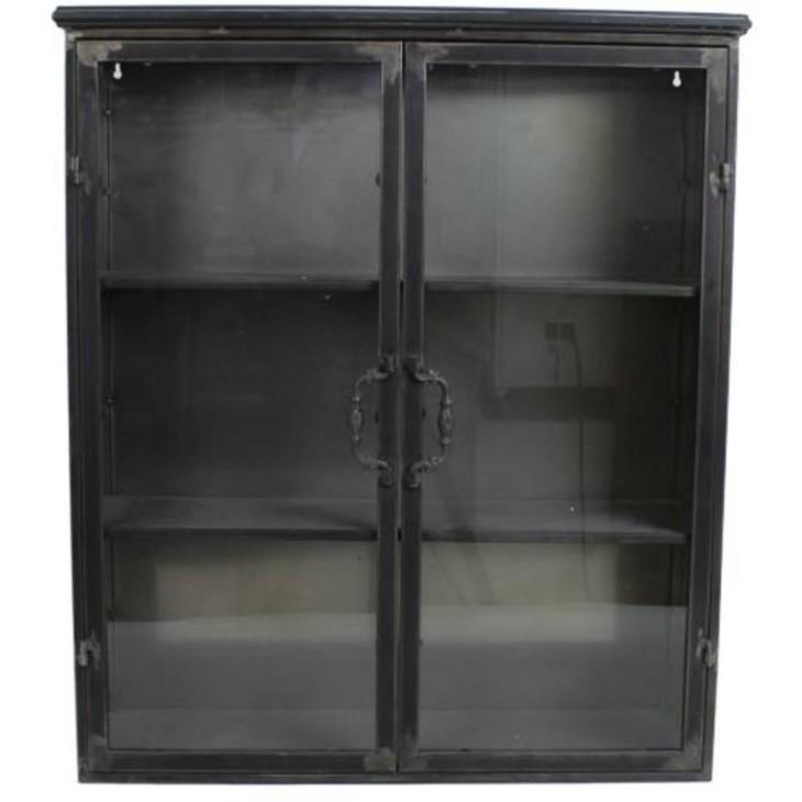 Witryna wisząca metalowa czarna Inni producenci WER-7549
