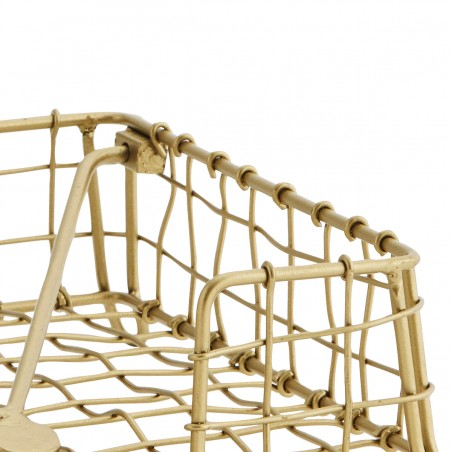 Serwetnik metalowy złoty na stół
