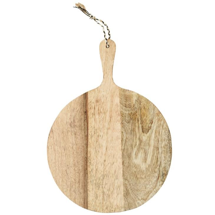 Deska do krojenia okrągła drewniana rustykalna Madam Stoltz CB-01