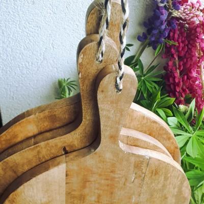 Deska do krojenia okrągła drewniana rustykalna