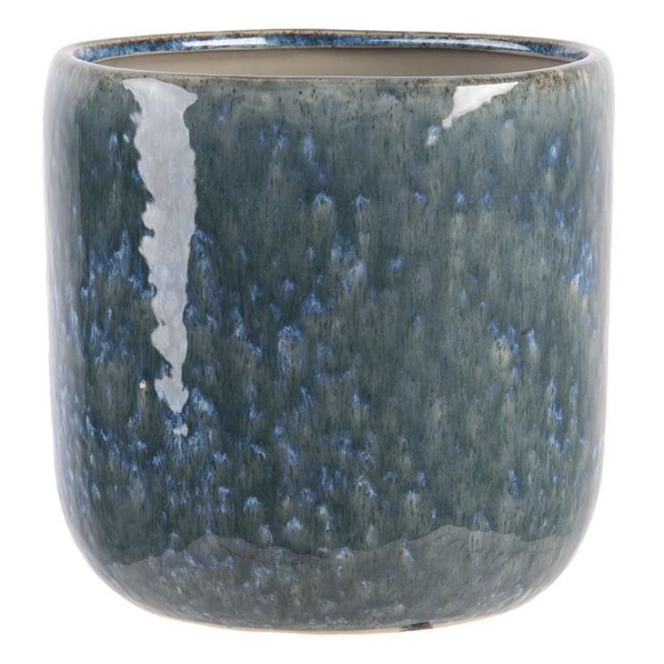 Doniczka ceramiczna okrągła turkusowa XL NICEA Clayre & Eef 6CE1265XL