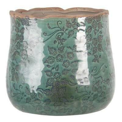 Doniczka ceramiczna okrągła turkusowa L PIZA