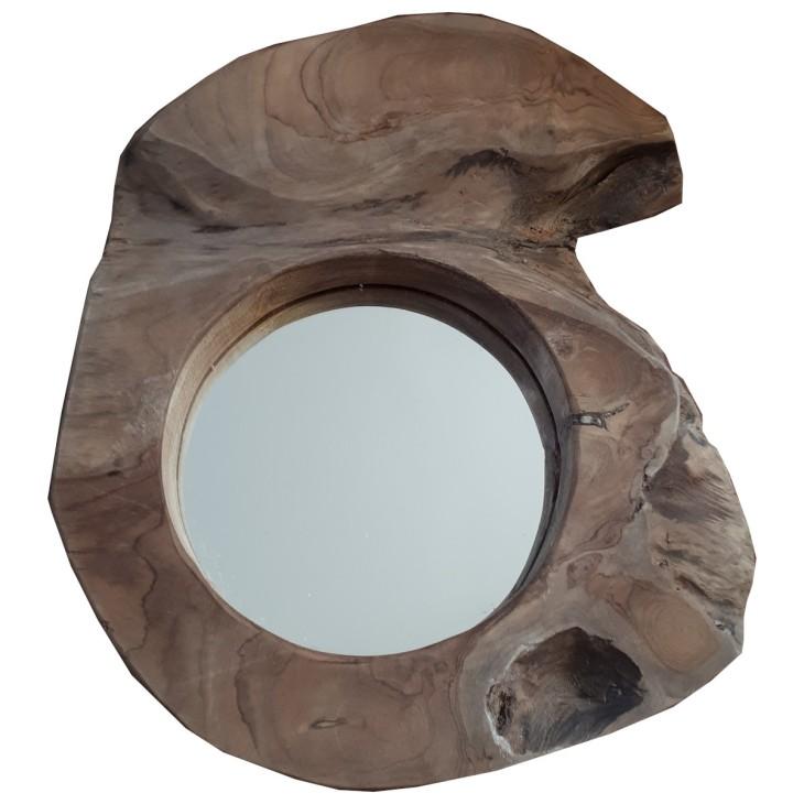 Lustro drewniane WOOD 3 rustykalne Boltze 2009359.3