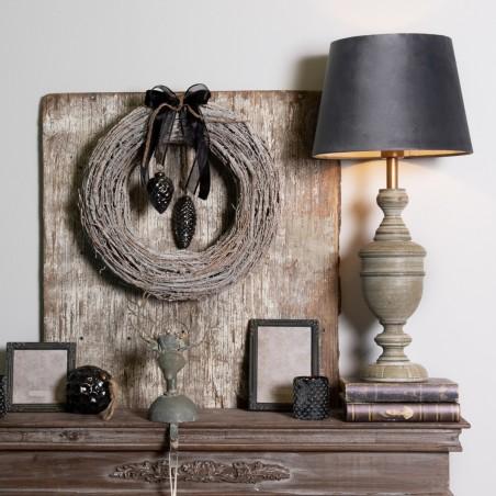 Portal kominkowy czarny drewniany, obudowa kominka