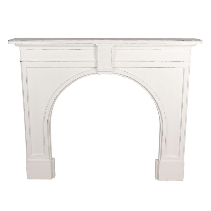 Portal kominkowy drewniany biały PADWA, obudowa kominka Clayre & Eef 5H0475W