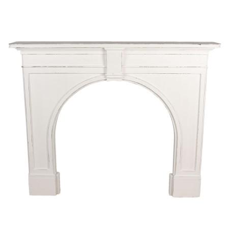 Portal kominkowy drewniany biały PADWA, obudowa kominka