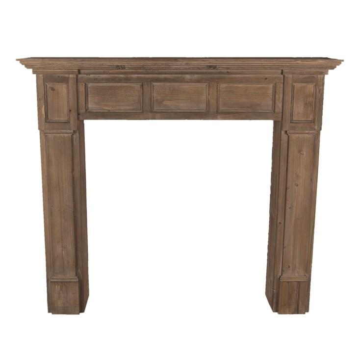 Portal kominkowy drewniany brązowy VERONA, obudowa kominka Clayre & Eef 5H0474
