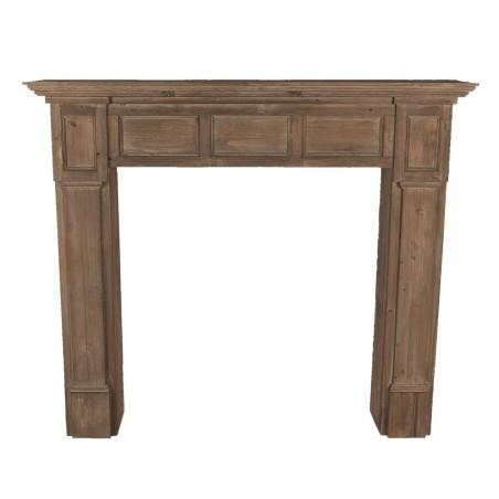 Portal kominkowy drewniany brązowy VERONA, obudowa kominka