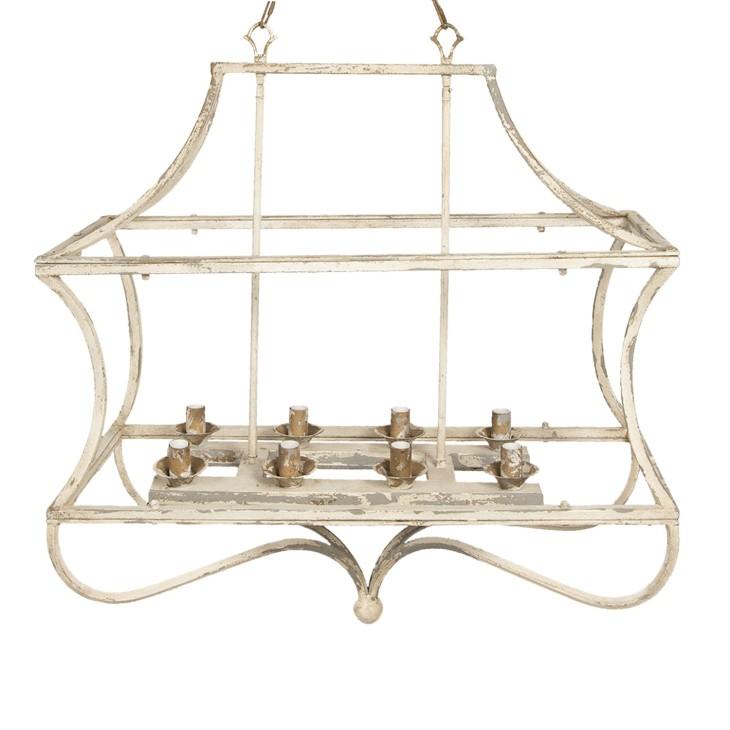 Lampa wisząca żyrandol PROVANCE kremowy postarzany Clayre & Eef 5LMP335