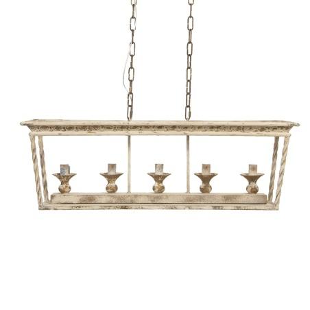 Lampa wisząca żyrandol PROVANCE II kremowy postarzany
