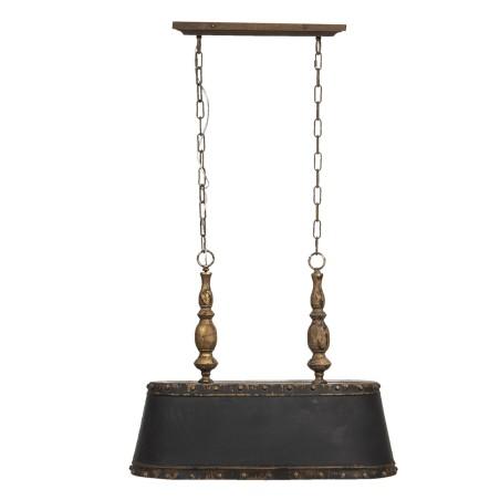 Lampa wisząca żyrandol czarno-złoty postarzany