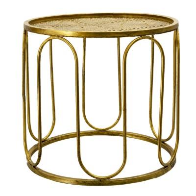 Stolik metalowy złoty...