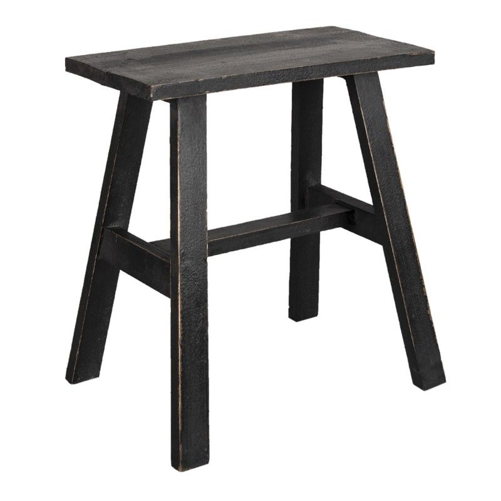 Stolik drewniany skandynawski brązowy L stolik kawowy Clayre & Eef 6H2056