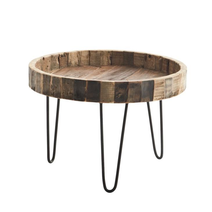 Stolik kawowy okrągły drewniany Madam Stoltz MF01