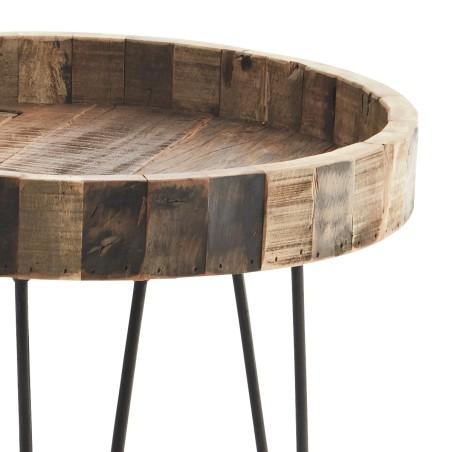 Stolik kawowy okrągły drewniany