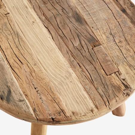 Stolik drewniany okrągły postarzany