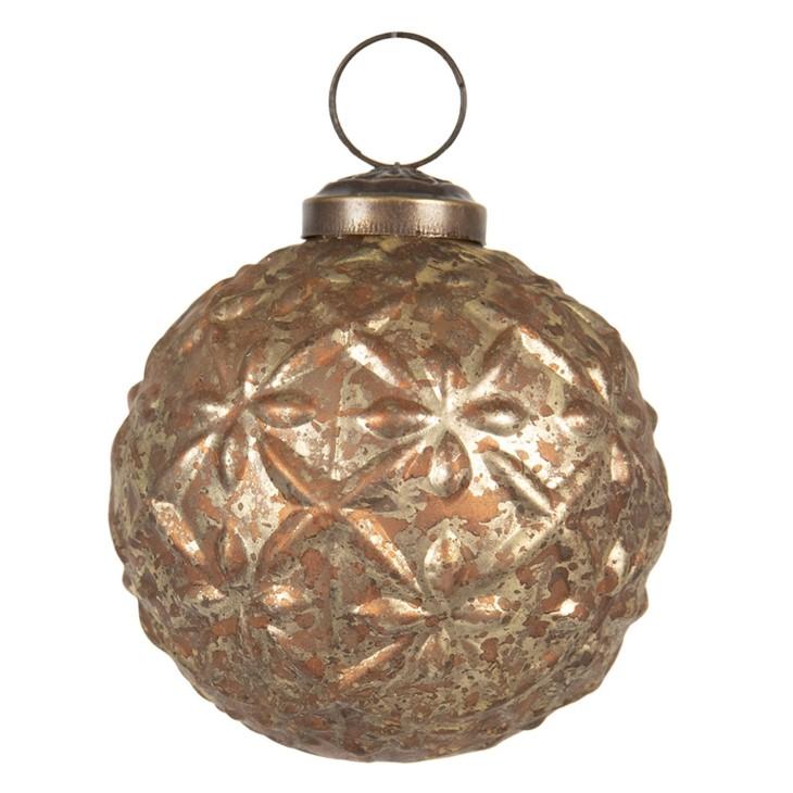 Bombka choinkowa złota miedziana postarzana Clayre & Eef 6GL2667