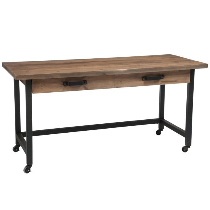 Biurko drewniane WOOD J-LINE 78557