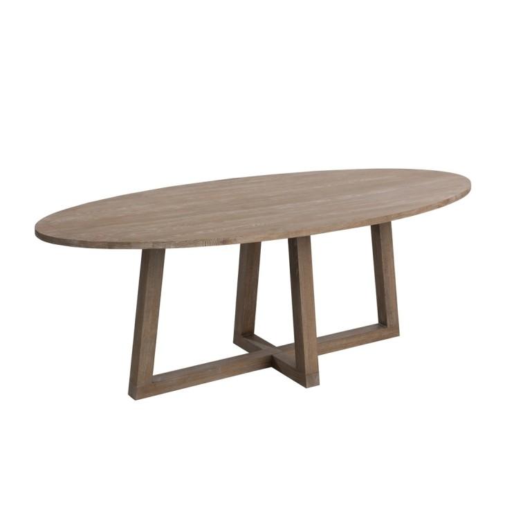 Stół drewniany owalny MOKA J-LINE 80005