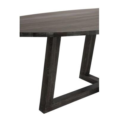 Stół drewniany owalny DARK BROWN
