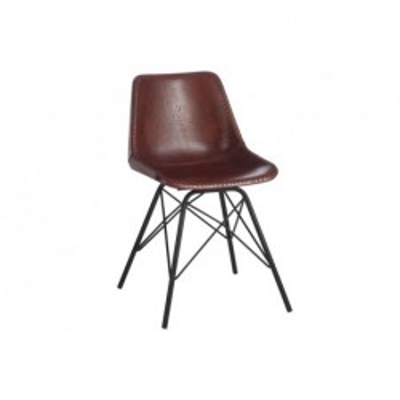 Krzesło skórzane brązowe...