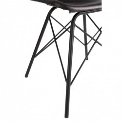 Krzesło skórzane LOFT czarne
