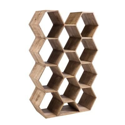 Regał drewniany HEXAGON