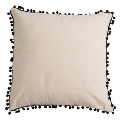 Poduszka dekoracyjna bawełniana BOHO biało-czarna 45x45cm
