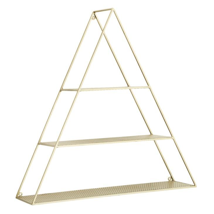 Półka wisząca trójkątna TRIANGULAR 61x62cm Madam Stoltz 21712AB