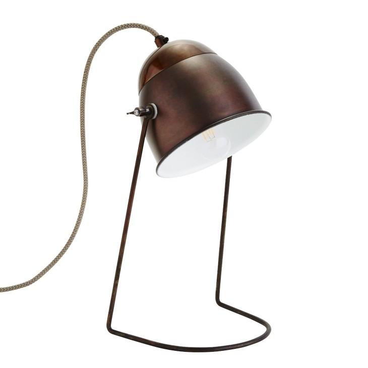 Lampa stołowa ANTIQUE antyczny brąz/ mosiądz Madam Stoltz L-1298BO