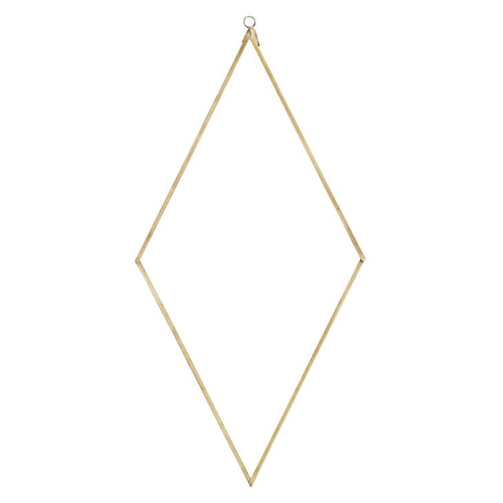 Lustro metalowe DIAMOND złote 20x41cm Madam Stoltz PCH12927AB