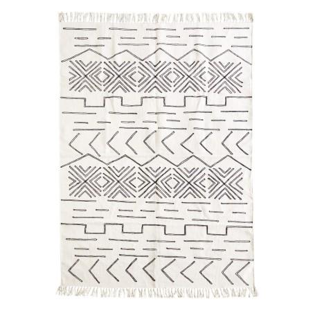 Dywan bawełniany AZTEC ecru-czarny 117x198cm