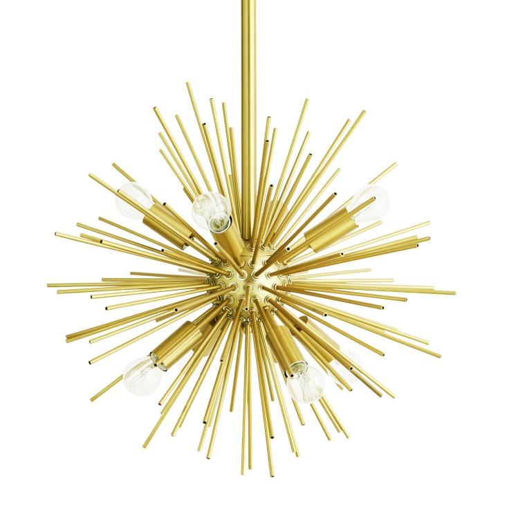 Lampa wisząca złota CHANDELIER metalowa, złoty żyrandol Madam Stoltz UR978S