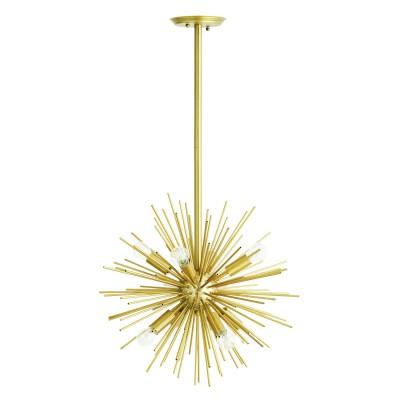 Lampa sufitowa CHANDELIER metalowa złota, żyrandol